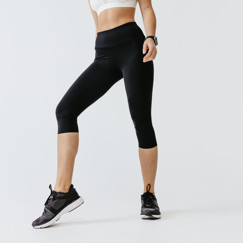 LEGGING COURT RUN SUPPORT FEMME NOIR