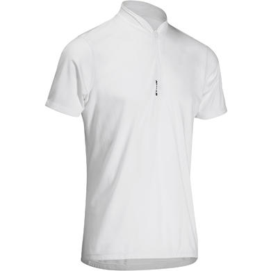 MAILLOT MANCHES COURTES VELO HOMME 100 BLANC