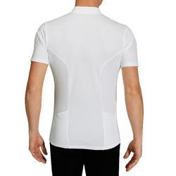 Wielershirt RC100 Essential met korte mouwen voor heren wit