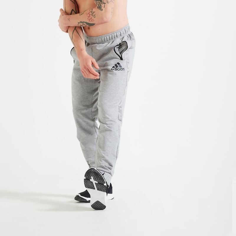 Fitness broek heren Aeroready grijs