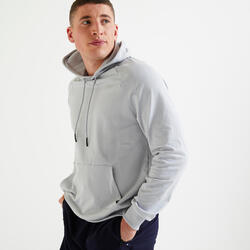 Fitness Training Sweatshirt - Plain Light Grey