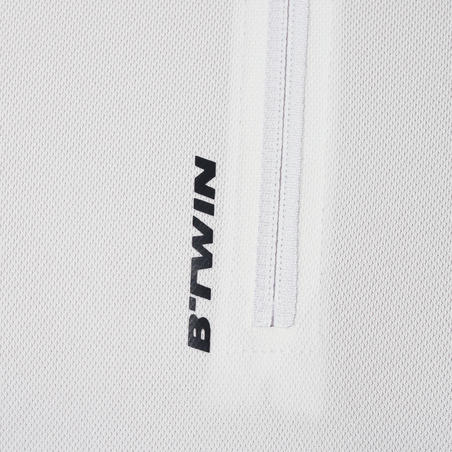 Essential Road Cycling Short-Sleeved Jersey - White
