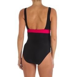 女款連身孕婦泳裝Romane - 黑色粉紅色
