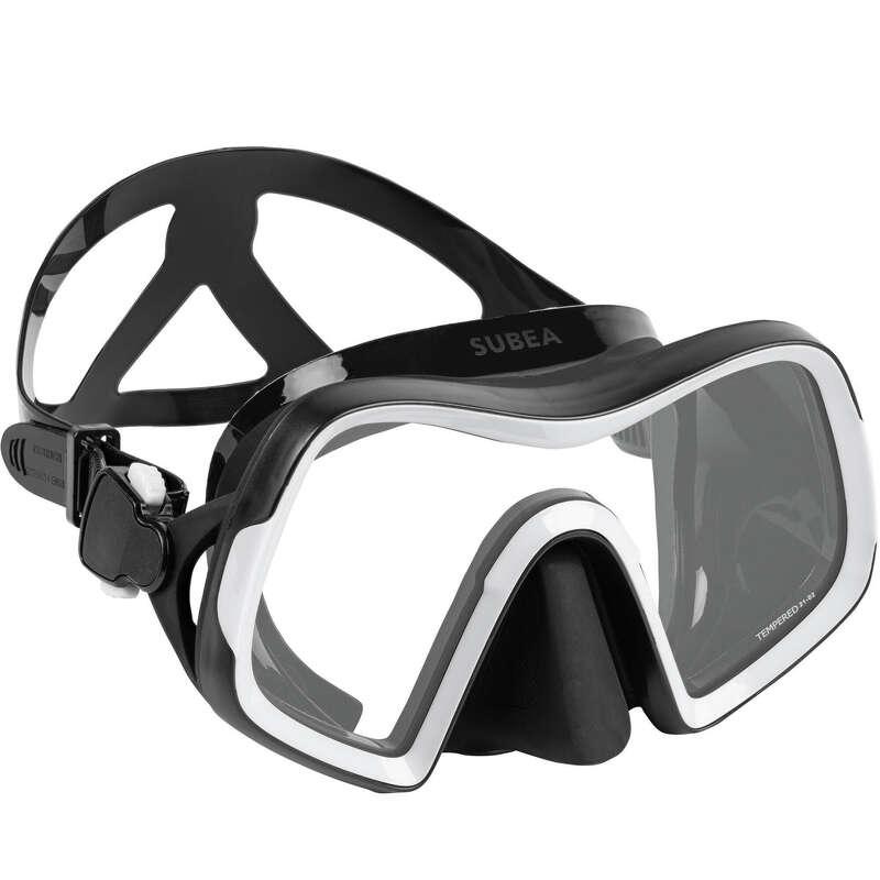 SCD MASKS & SNORKELS Dykning och Snorkling - Dykmask SCD500 Mono V2 svart SUBEA - Snorkling