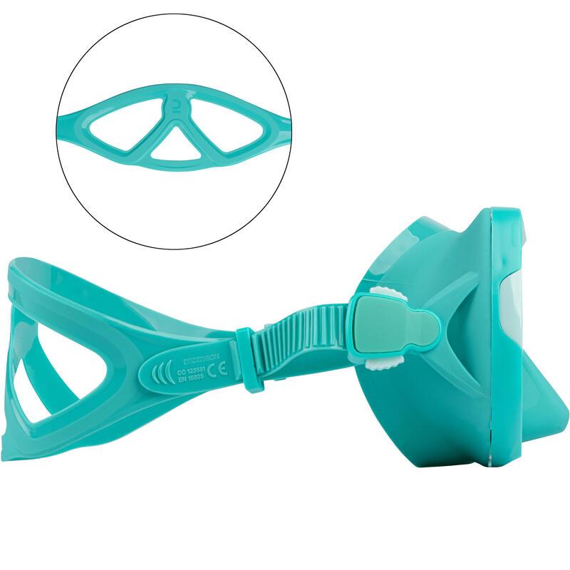 หน้ากากดำน้ำลึกเลนส์เดี่ยวรุ่น SCD 500 (สีฟ้า Turquoise)