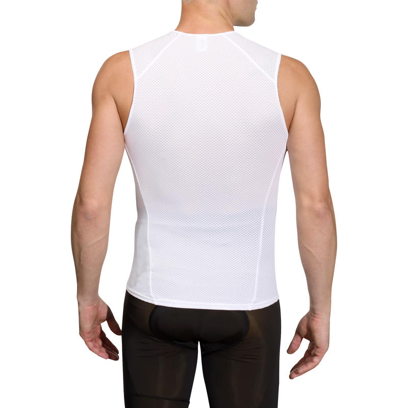 500 Sleeveless Cycling Base Layer - White