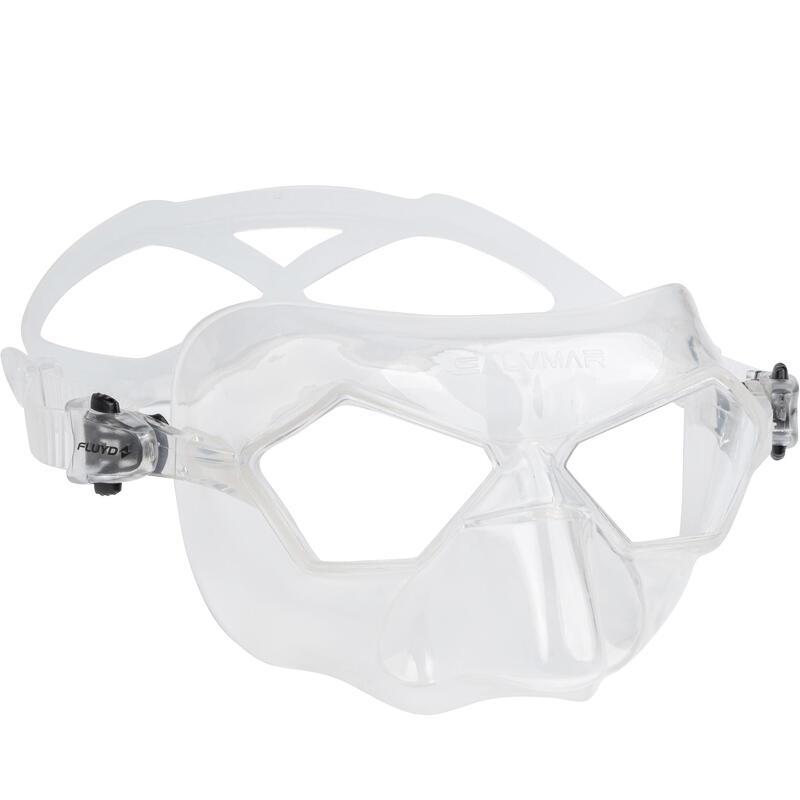 Máscara Apnea Fluyd Incredible Salvimar Crystal Cristal Transparente