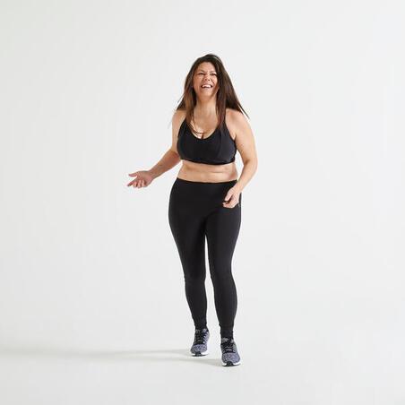 Brassiere-top fitness cardio-training mujer negro 920
