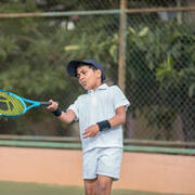 Kids' Tennis Polo T-Shirt Dry 100 - White