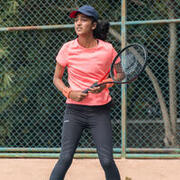 Women's Tennis T-Shirt Dry 100 - Coral