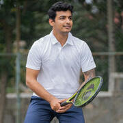 Men's Tennis Polo T-Shirt Dry 100 - White