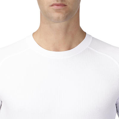 חולצת בסיס לרכיבה עם שרוולים קצרים 100 - לבן