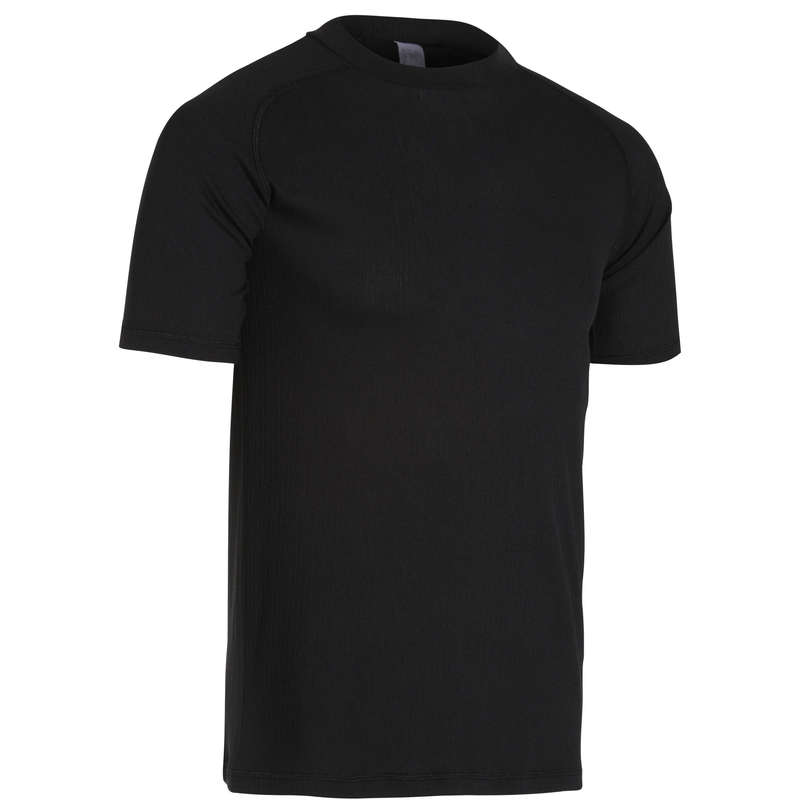 MEN WARM WEATHER ROAD BASELAYER Cycling - Essential Short Sleeve Cycling Base Layer - Black VAN RYSEL - Cycling