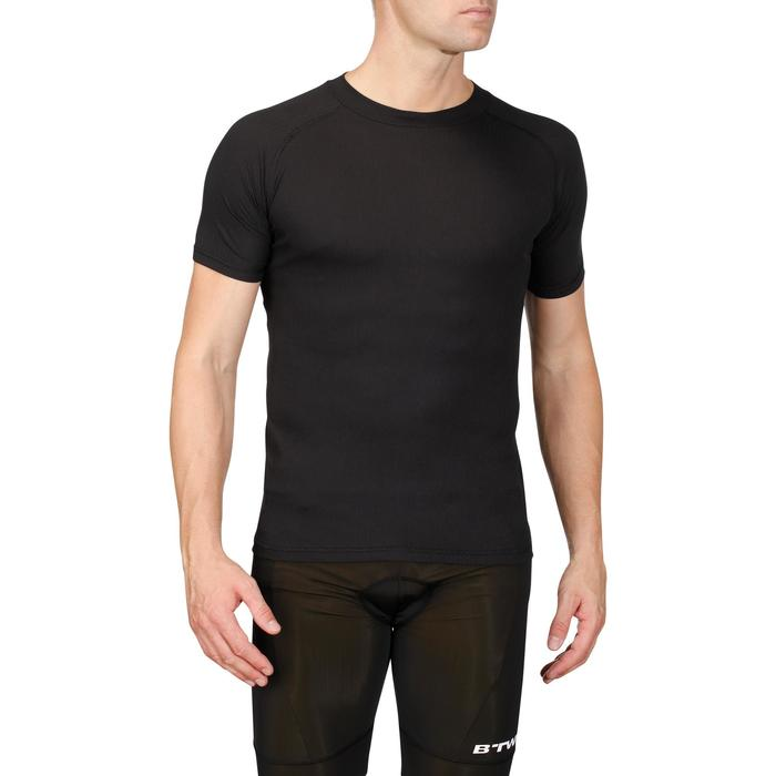 Fietsondershirt met korte mouwen 100 zwart
