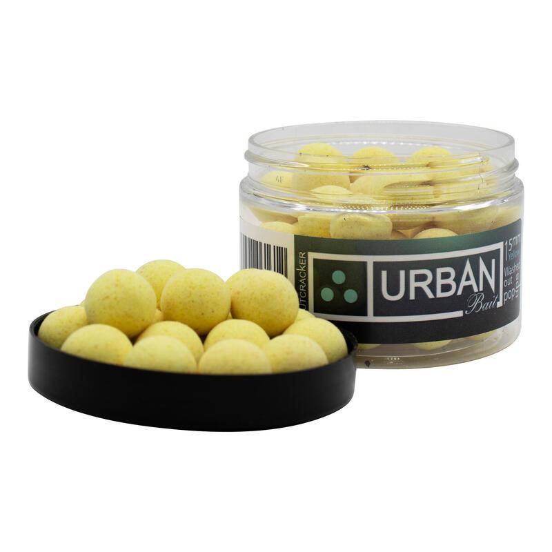 URBAN BAIT NUTCRACKER 15MM POP UPS WASHOUT YELLOW