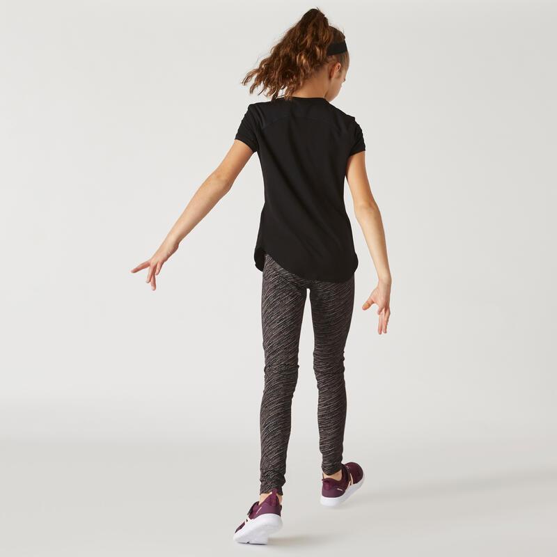 Legging respirant dégradé noir fille