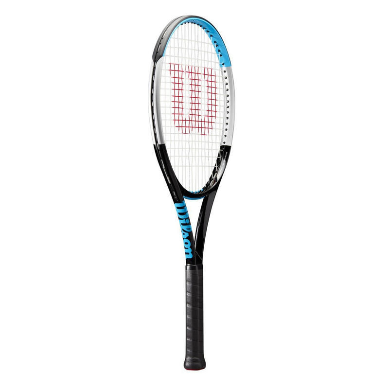Raquette de tennis Adulte Ultra 100 V3.0 noire bleue NON CORDEE