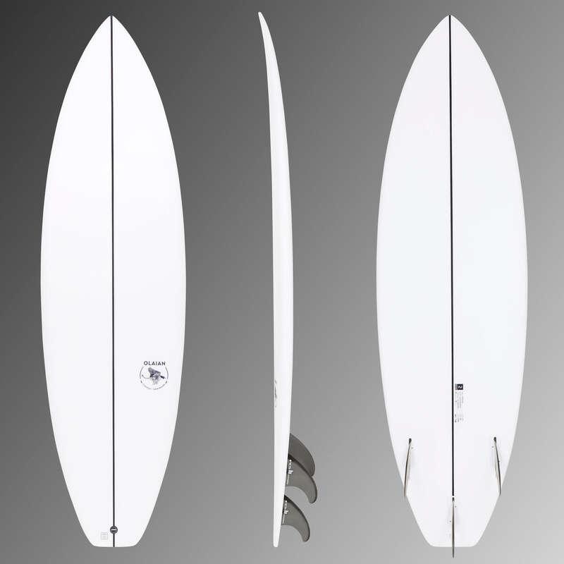 Szörfdeszkák intenzív szörfözéshez Strand, szörf, sárkány - Shortboard 900-as, 6'1', 33 l OLAIAN - Hullámlovaglás, strandsportok