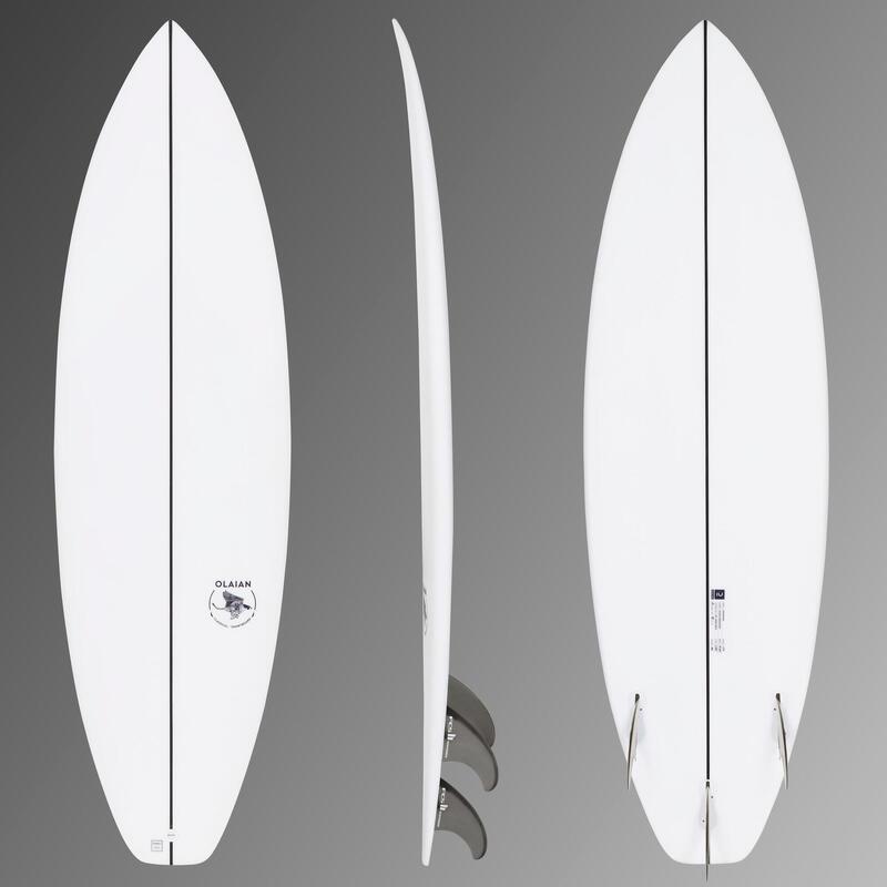 """Tabla Surf Shortboard Olaian 900 5'10"""" 30L. Pack Tabla + Quillas FCS2."""