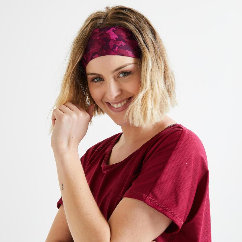 Bandeau cheveux fitness cardio training imprimé