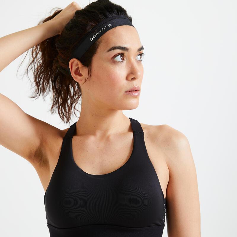 Cinta Elástica Diadema para pelo x3 fitness cardio training negro