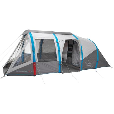 Tente de camping air seconds family 6 personnes 3 for Tente de camping 3 chambres