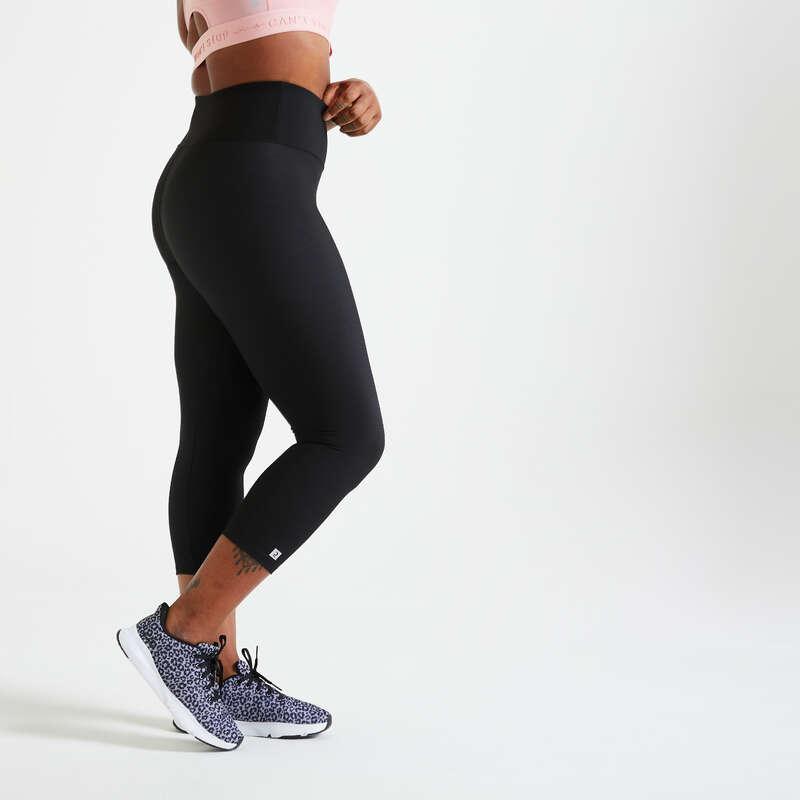 ŽENSKA ODJEĆA ZA KARDIOFITNES ZA POČETNICE Fitness - Poluduge hlače 100 FLE DOMYOS - Tajice za fitness