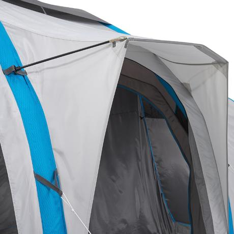 Air Seconds Family Tent 6 3xl 6 People Grey Quechua