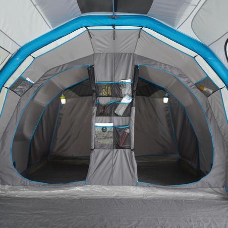 aufblasbares zelt air seconds family 6 3 xl f r 6 personen in 3 schlafkabinen quechua. Black Bedroom Furniture Sets. Home Design Ideas
