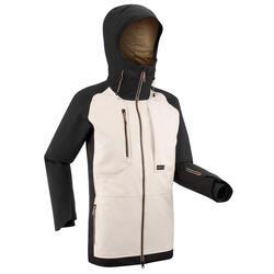 Men's Ski and Snowboard Jacket SNB JKT 900 UP - beige