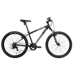 """24"""" 9至12歲兒童登山車Rockrider ST 500 - 黑色"""