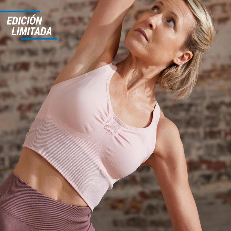 EDICIÓN LIMITADA Sujetador Deportivo Top Seamless Mujer Yoga Rosa