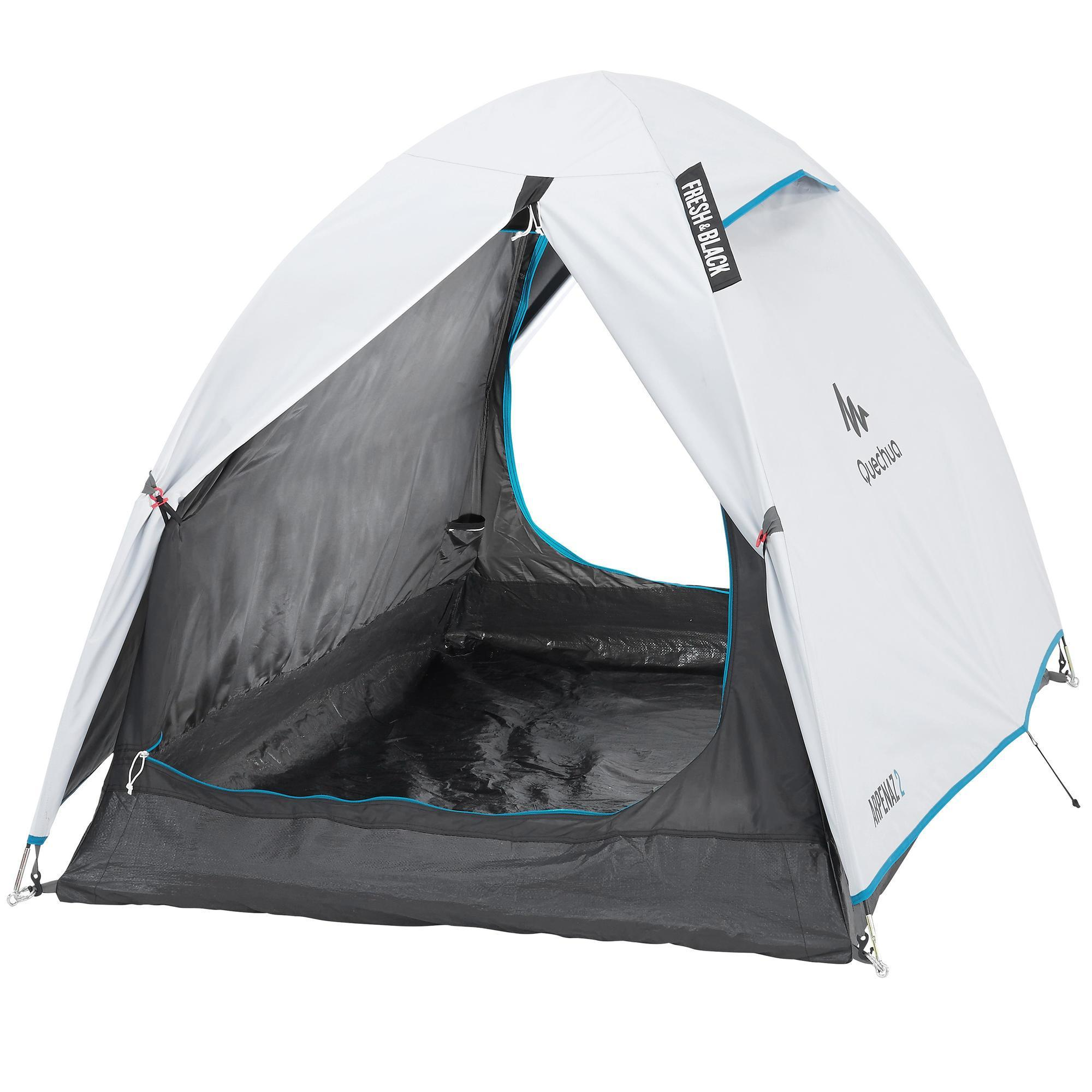 Quechua Tent | 2 persoons | Wit | Arpenaz Fresh & Black