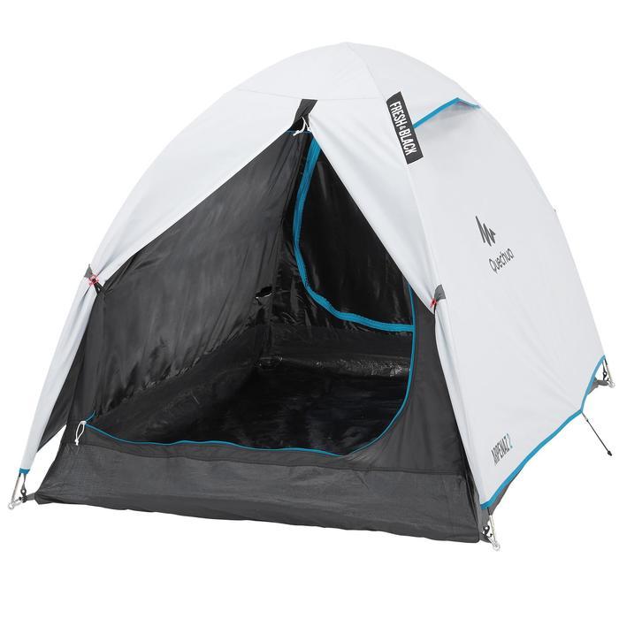 zelt f r 2 personen camping arpenaz fresh black wei. Black Bedroom Furniture Sets. Home Design Ideas