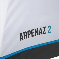 Tienda de Campaña Quechua ARPENAZ 2 FRESH&BLACK | 2 personas blanco Varillas