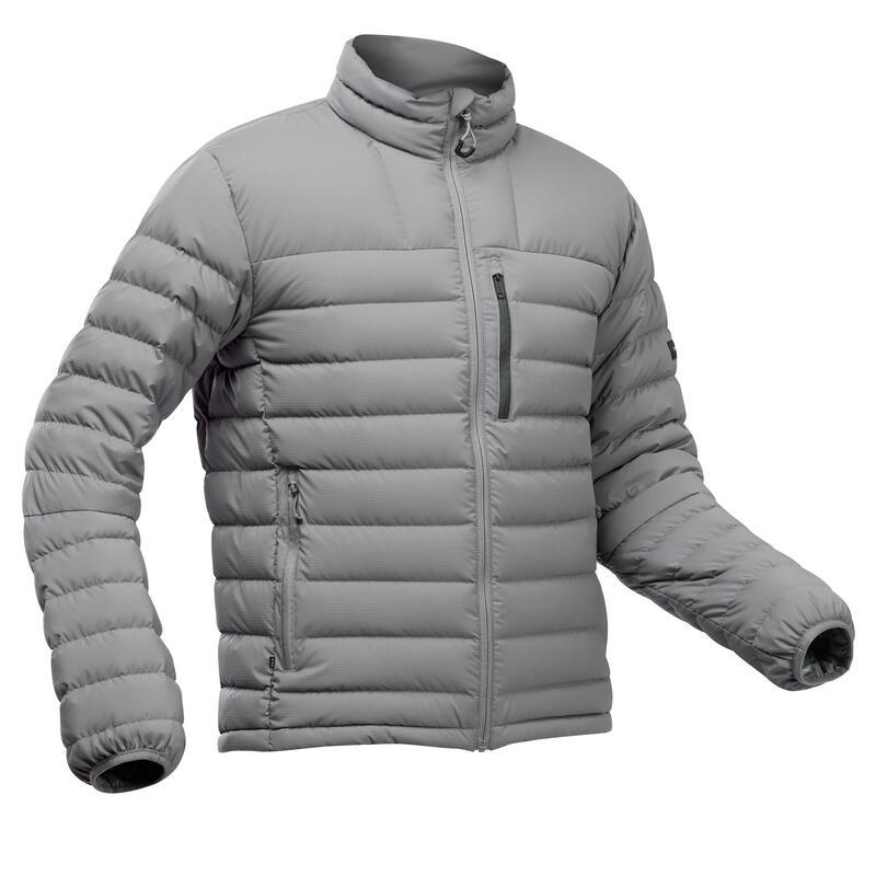 Doudoune en duvet de trek montagne - TREK 500 -10°C gris - homme