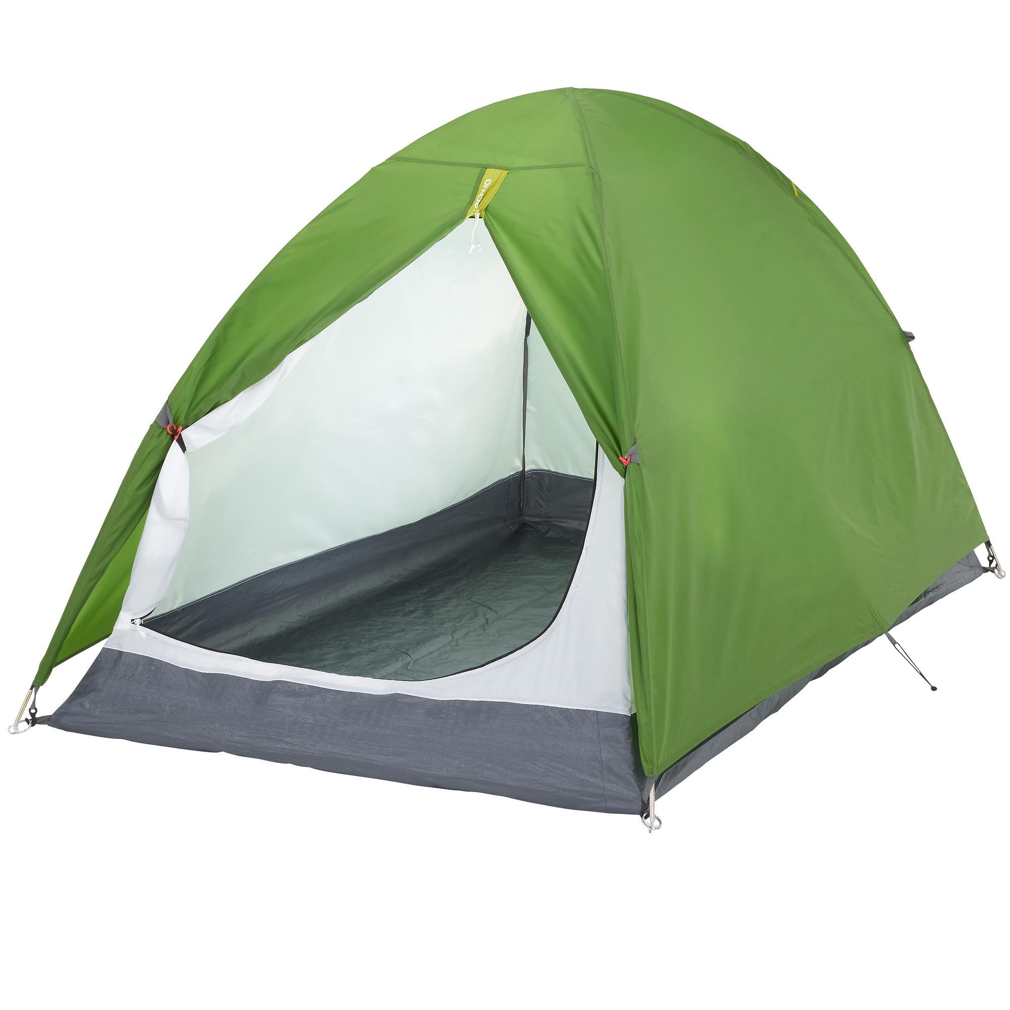 zelt f r 2 personen camping arpenaz gr n quechua. Black Bedroom Furniture Sets. Home Design Ideas