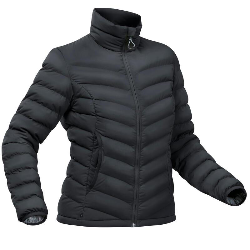 Piumino montagna donna TREK500 PIUMA nero -10°C