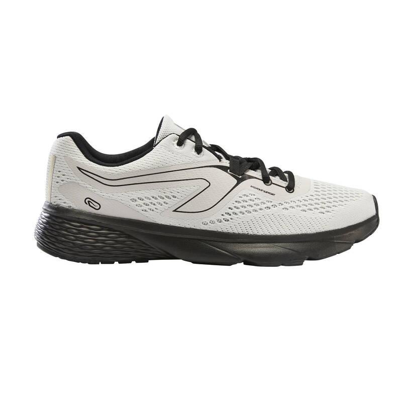 PÁNSKÉ BOTY NA JOGGING - PRAVIDELNÉ POUŽITÍ Běh - BĚŽECKÉ BOTY RUN SUPPORT BÍLÉ KALENJI - Běžecká obuv