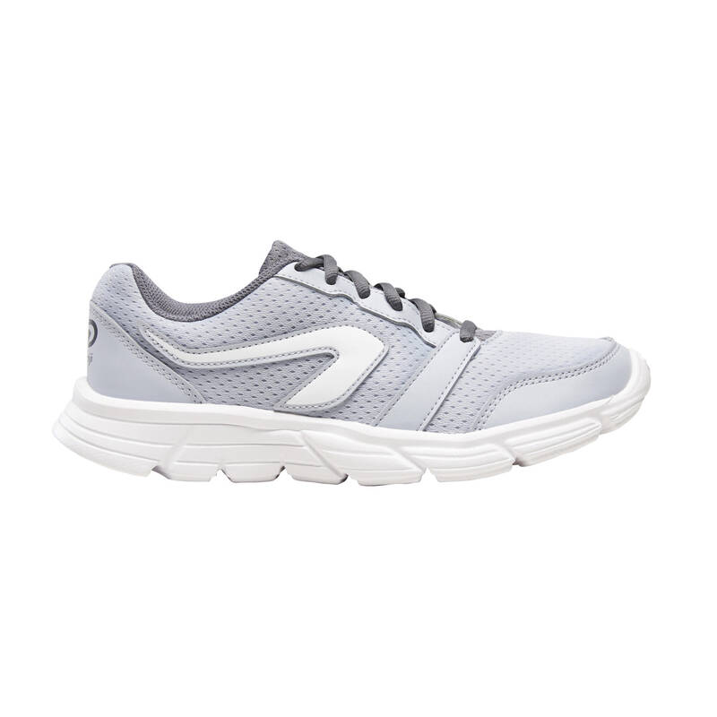 DÁMSKÉ BOTY NA JOGGING - PŘÍLEŽITOSTNÉ POUŽITÍ Běh - BOTY RUN 100 ŠEDÉ  KALENJI - Běžecká obuv