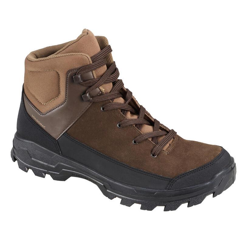 Chaussures chasse déperlante cuir marron Crosshunt 100 D