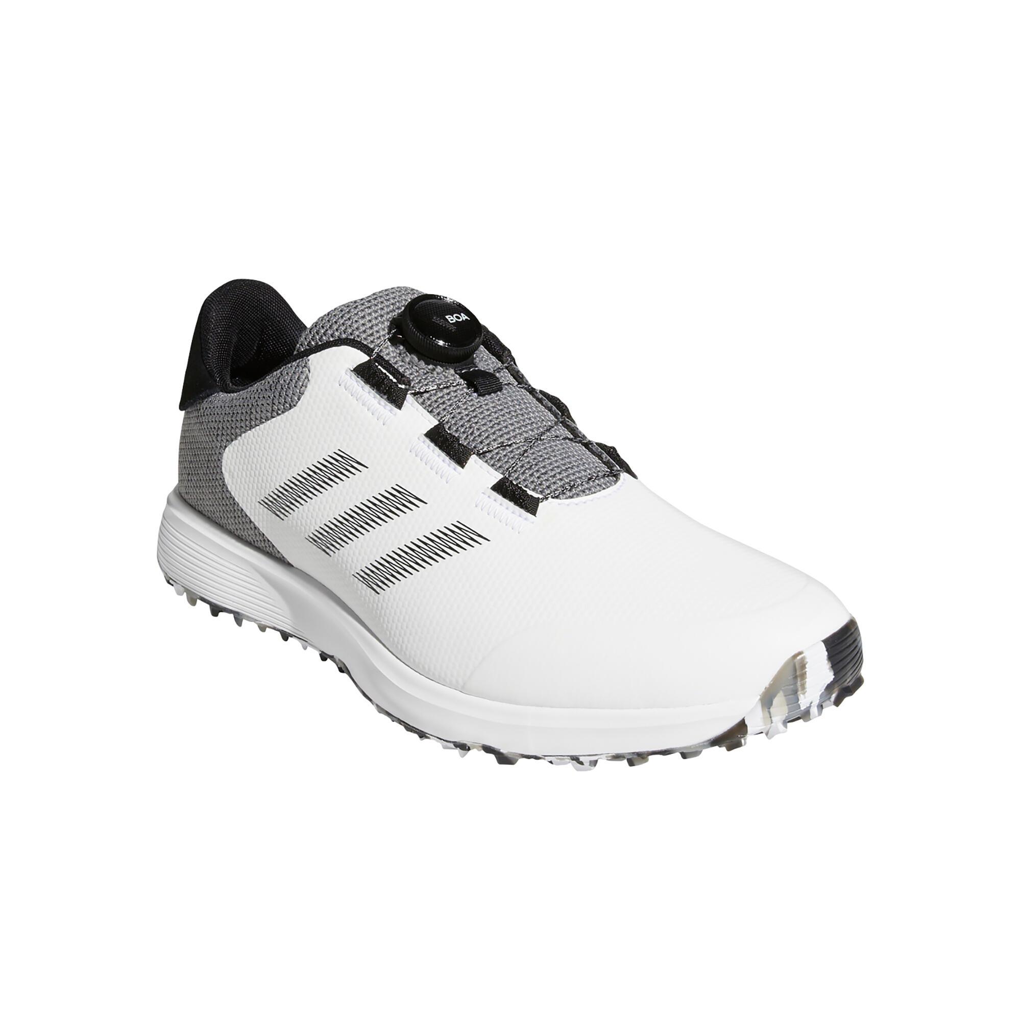 Chaussures de golf imperméables pour homme Adicross Boa blanches et grises