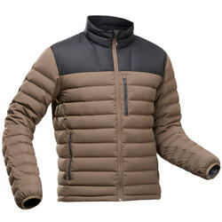 Men's Mountain Trekking Down Jacket - TREK 500 -10°C Brown
