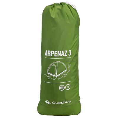 אוהל פתיחה מהירה לקמפינג ARPENAZ _PIPE_ 3 אנשים - ירוק