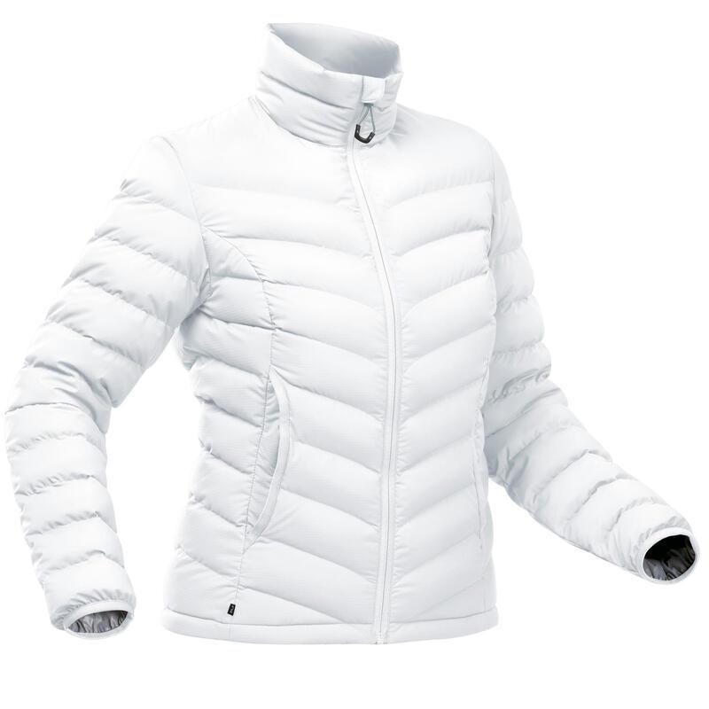 Piumino montagna donna TREK500 PIUMA grigio ghiaccio -10°C