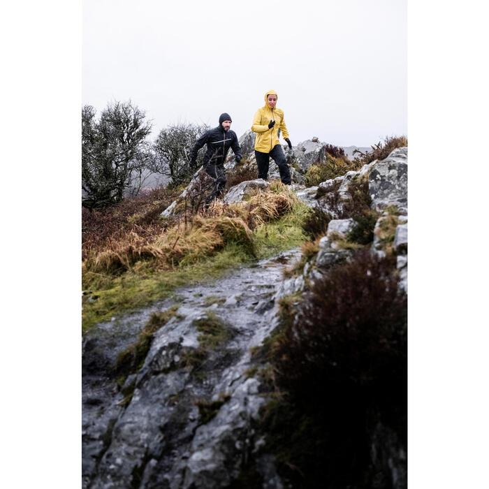 Lauf-Regenhose Trail wasserdicht Herren schwarz