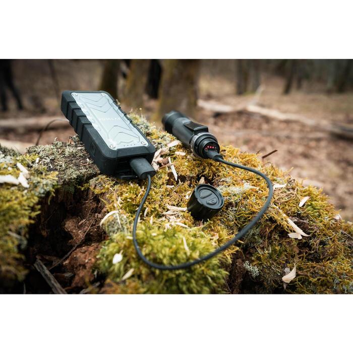 USB 可充電式狩獵手電筒 900 Lumens