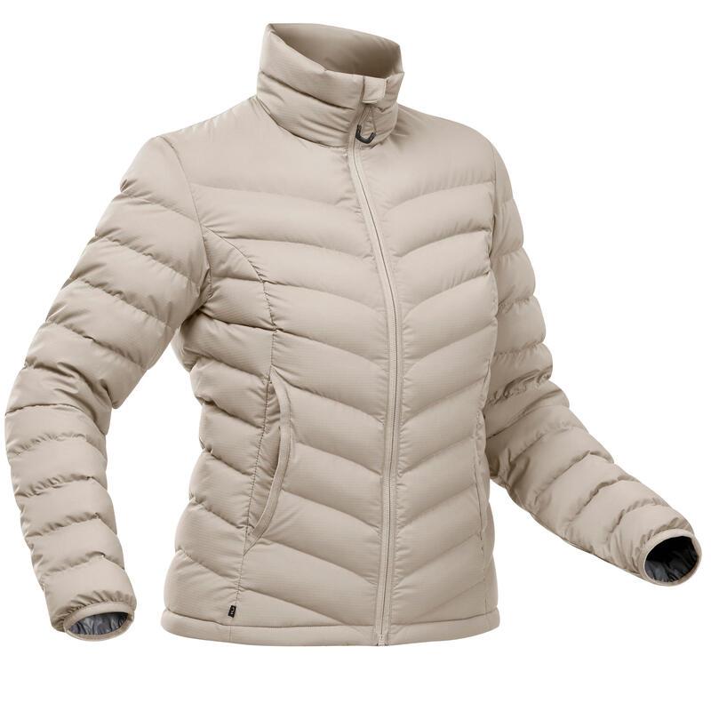 Piumino montagna donna TREK500 PIUMA beige -10°C
