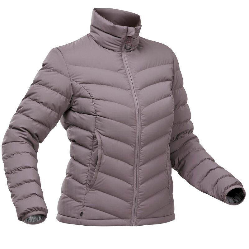 Piumino montagna donna TREK500 PIUMA viola chiaro -10°C