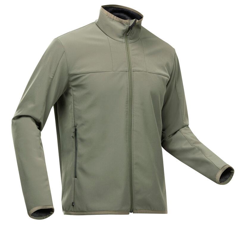 Men's warm windproof SoftShell jacket - MT 100 WINDWARM